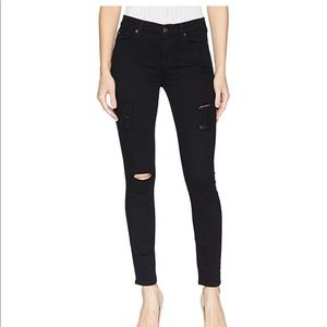 7 For All Mankind B(Air)Ankle Skinny Destroy Black